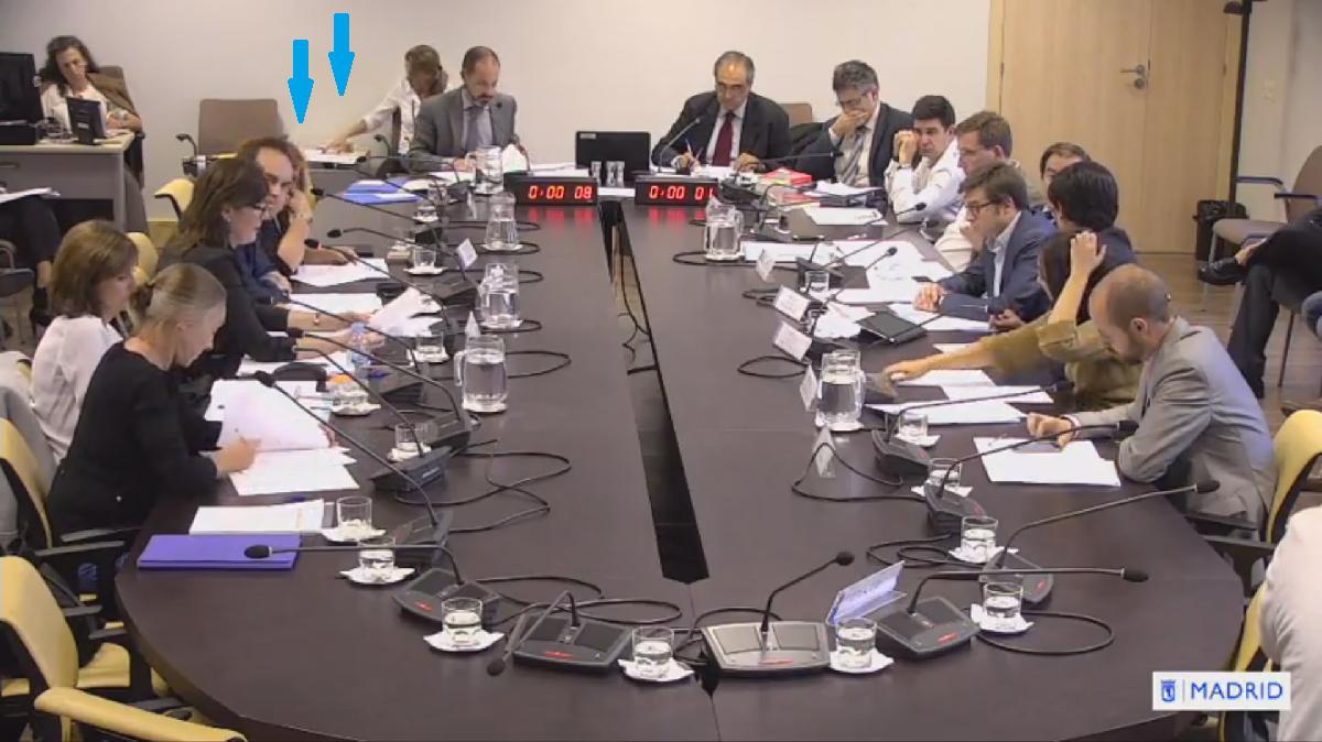 Ausencias de Ahora Madrid en la comisión. (Foto: YT)