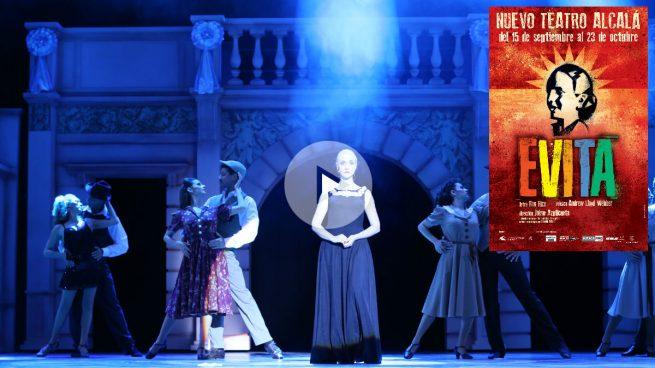 La adaptación española del histórico musical 'Evita' se despide del Teatro Nuevo Alcalá de Madrid