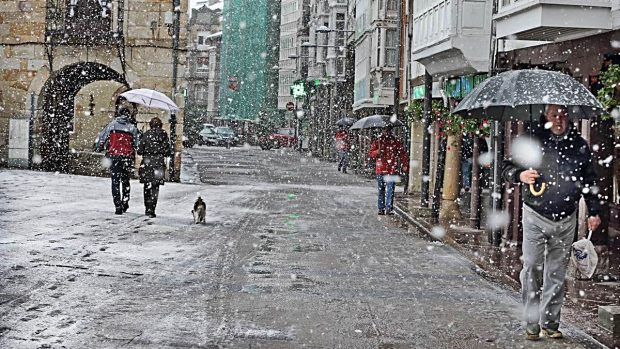 lluvia nieve como produce