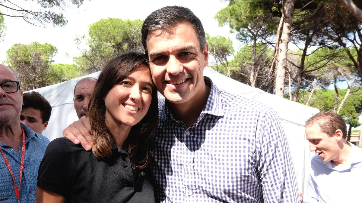 La viceprimera secretaria del PSC, Núria Parlon, junto al ex secretaria general del PSOE, Pedro Sánchez (Foto: PSC)
