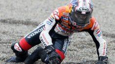 Dani Pedrosa ha sufrido su enésima lesión tras caerse durante los entrenamientos libres del Gran Premio de Japón. (Getty)