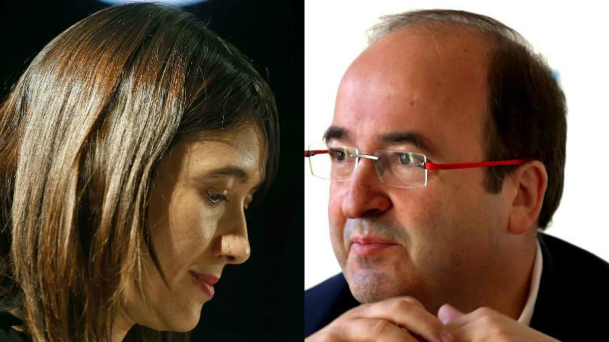 Los candidatos a liderar el PSC Núria Parlon y Miquel Iceta (Foto: Efe).