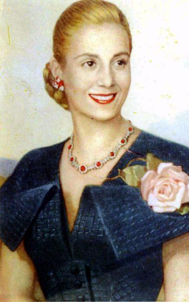 Eva Duarte pasó a llamarse Eva Perón al casarse con Juan Domingo Perón.