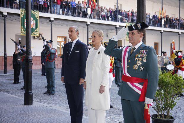Ceremonia de la Guardia Civil sin presencia de Ahora Madrid. (Foto: CAM)