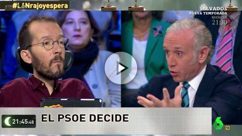Pablo Echenique y Eduardo Inda en La Sexta.