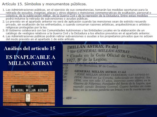 Sostienen que la Ley de Memoria Histórica no se puede aplicar, la plaza está desde 1927. (Clic para ampliar)