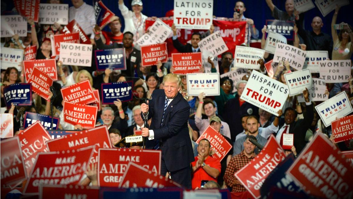 Donald Trump, en un mitin en Carolina del Norte. (TW)