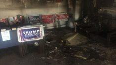 Así quedó la sede del Partido Republicano de Hillsborough.