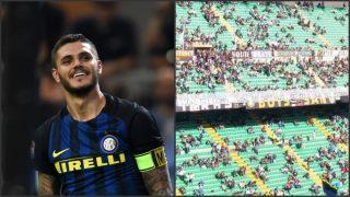 Los ultras del Inter cargan contra Icardi.