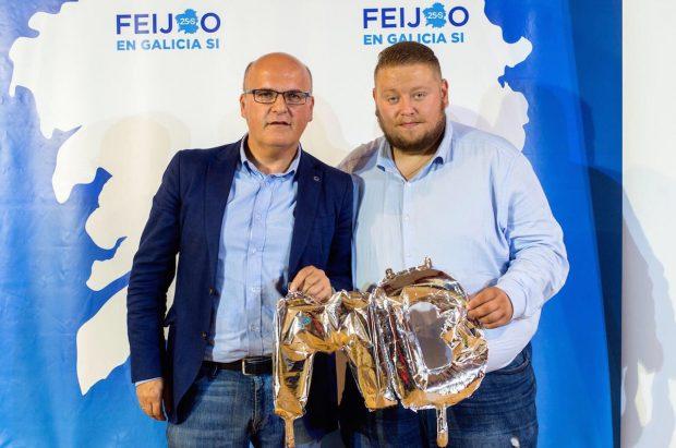 El Presidente de la Diputación de Orense, Manuel Baltar y el Presidente de NN.GG. del PP de Orense, José Antonio Parente.