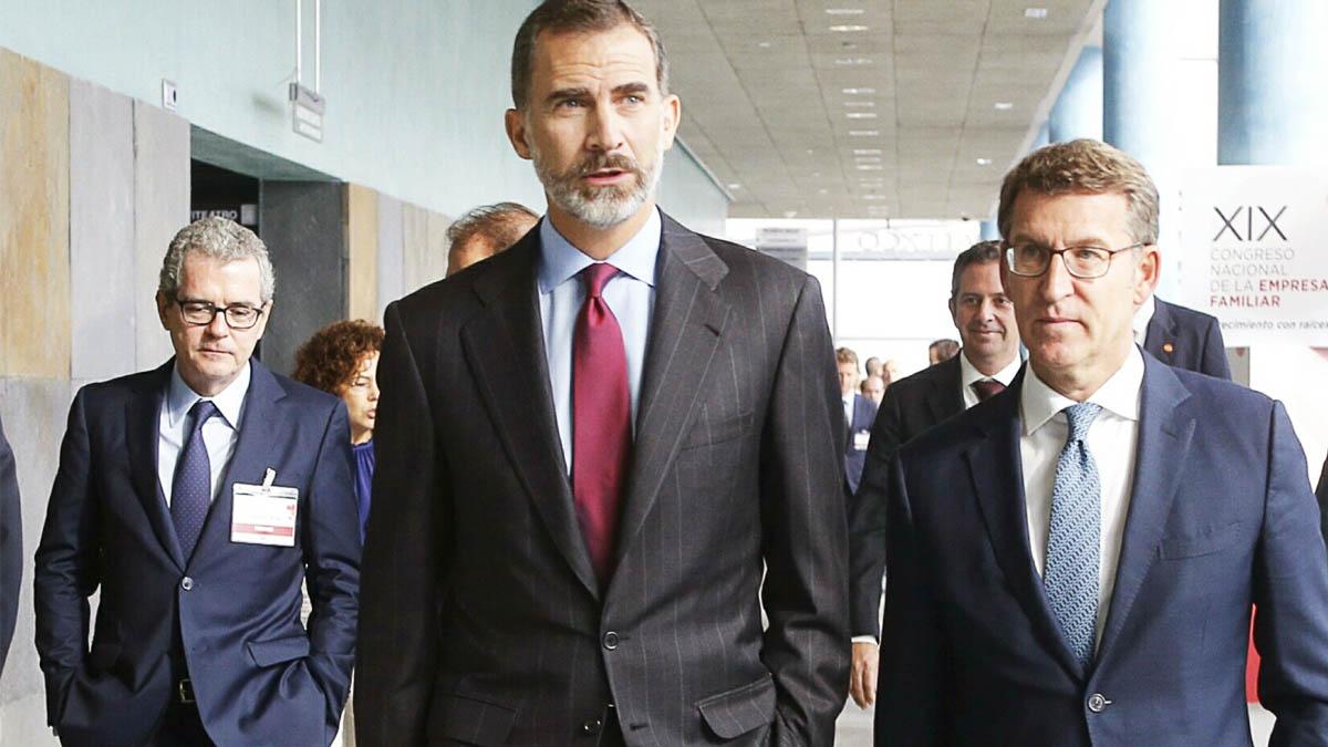 El Rey Felipe VI y Alberto Núñez Feijóo (Foto: EFE)
