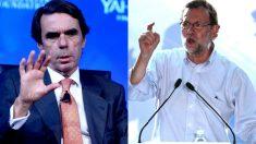 Aznar y Rajoy en recientes imágenes.
