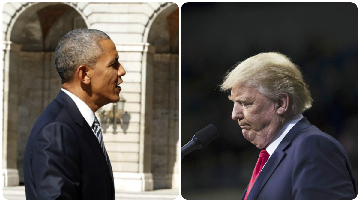 Barack Obama y Donald Trump.