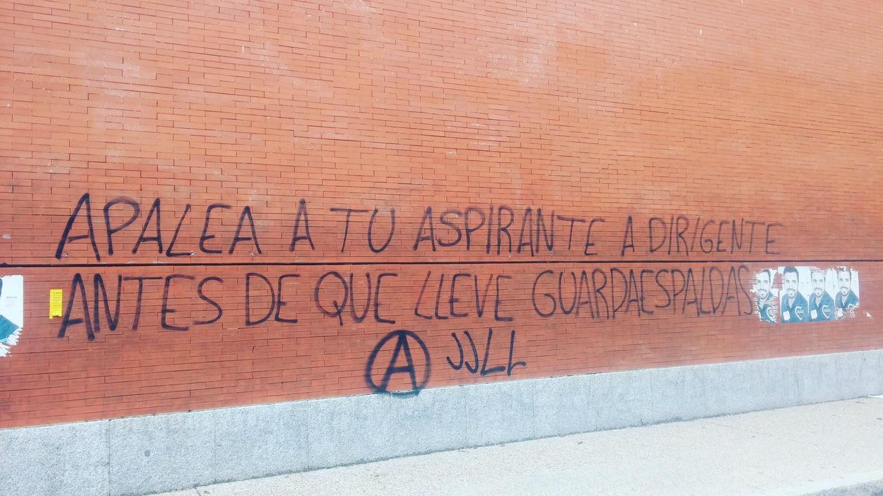 Pintadas en la Universidad Complutense.