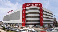 Comercio de Conforama anunciado en su página Web
