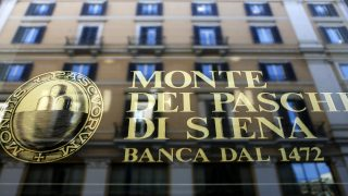 Fachada del Banco Monte dei Paschi di Siena (BMPS)