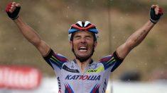 Purito Rodríguez celebra una victoria en el Tour de Francia 2015. (Getty)