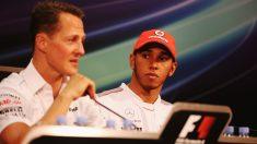 Hamilton y Schumacher durante el GP de Mónaco 2012. (Getty)