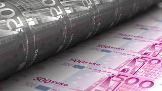 Impresión de billetes de 500 euros (Foto: GETTY/ISTOCK).