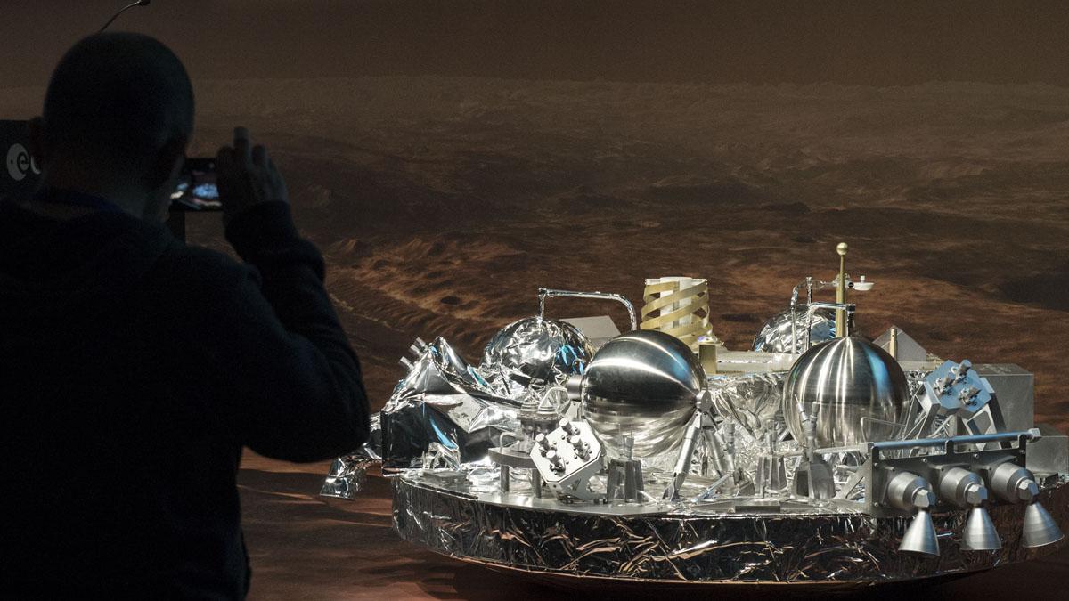 Módulo espacial ExoMars (Foto: AFP)