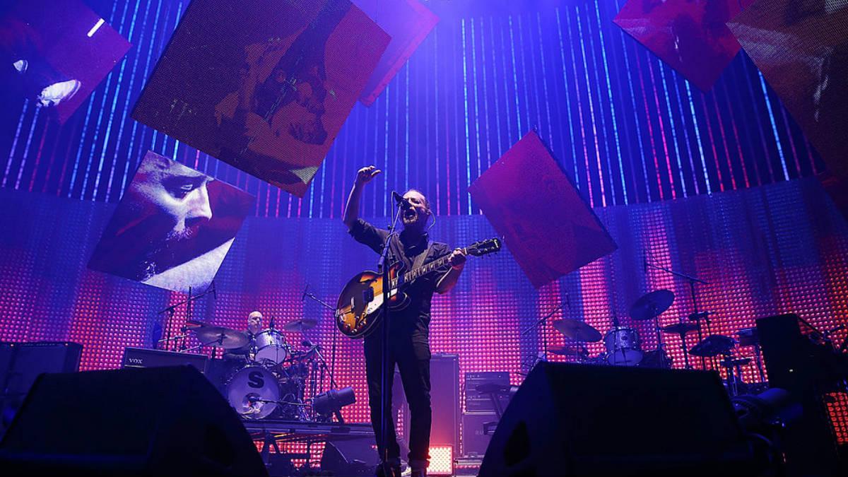 La banda Radiohead durante su último Tour, la imagen es de su actuación en Australia. GETTYIMAGES