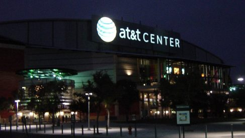Pabellón AT&T Center en San Antonio, Texas.