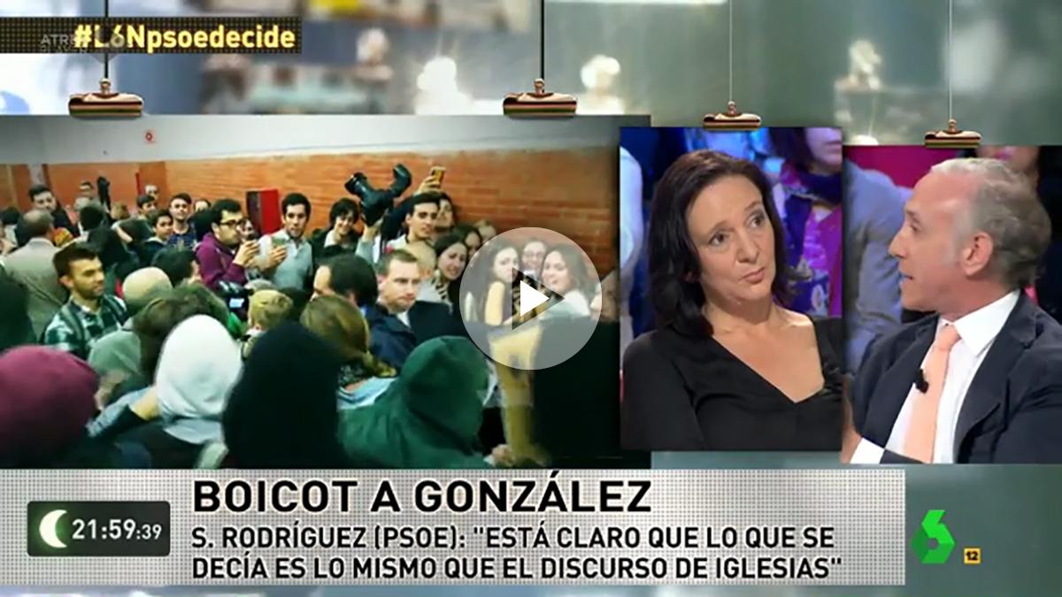 Carolina Bescansa y Eduardo Inda en La Sexta Noche.
