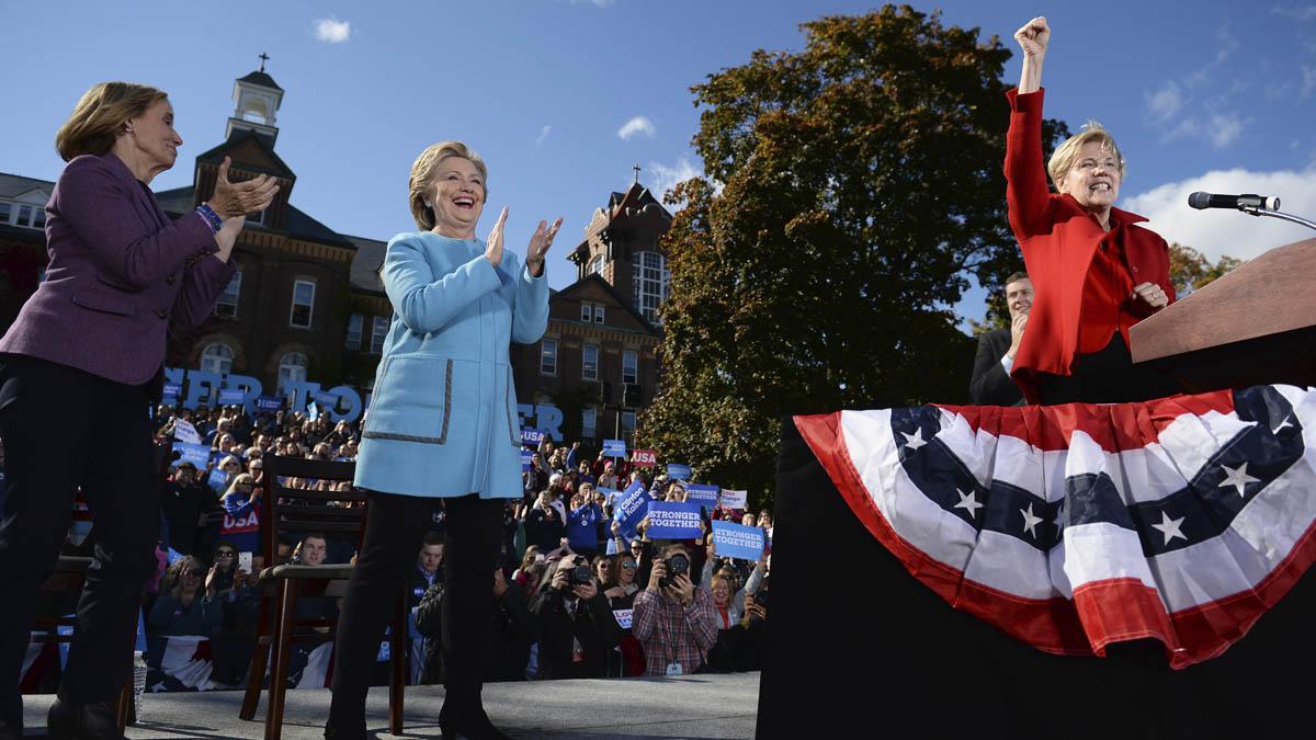Hillary Clinton durante un reciente acto en New Hampshire (Foto: AFP)