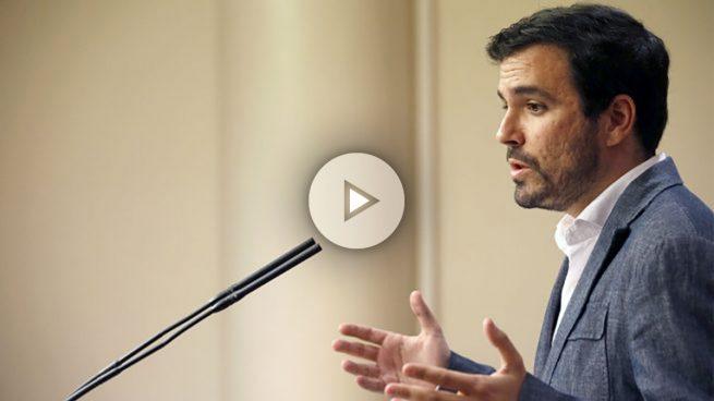 Garzón se descubre y revela al Rey que se avecina «un ciclo de movilizaciones al alza»