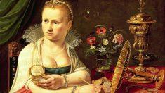 Este cuadro titulado 'Vanitas' muestra un retrato, muy probablemente el de la propia pintora Clara Peeters, y un bodegón. CC