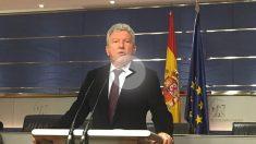 Pedro Quevedo en rueda de prensa en el Congreso.
