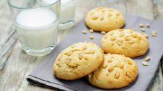 Receta de galletas de parmesano y piñones