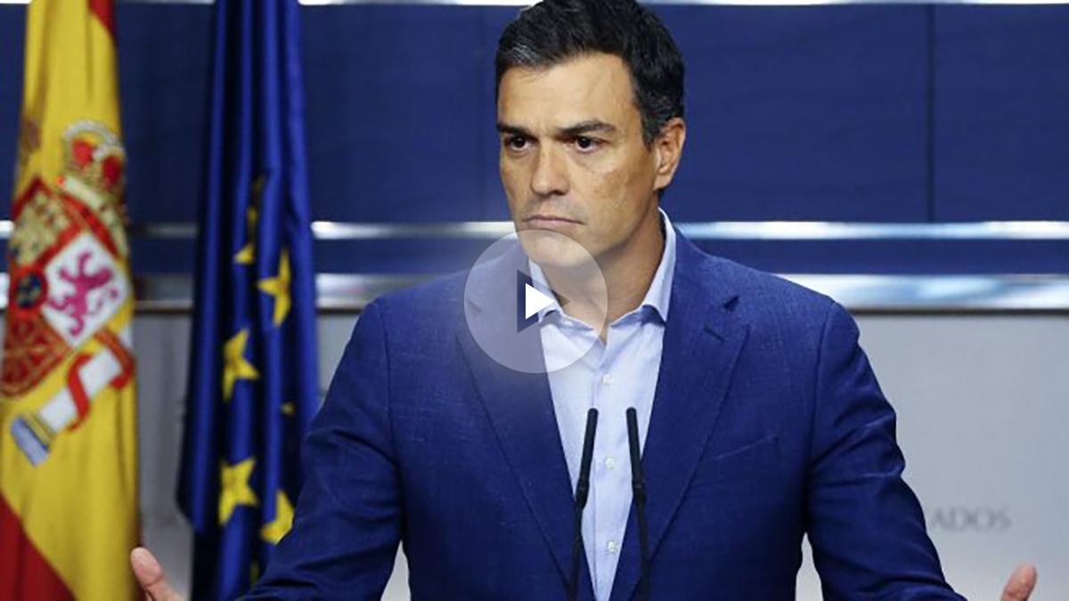 El ex secretario general del PSOE, Pedro Sánchez, en rueda de prensa en el Congreso.