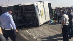 Autobús accidentado (Foto: The Jordan Times)