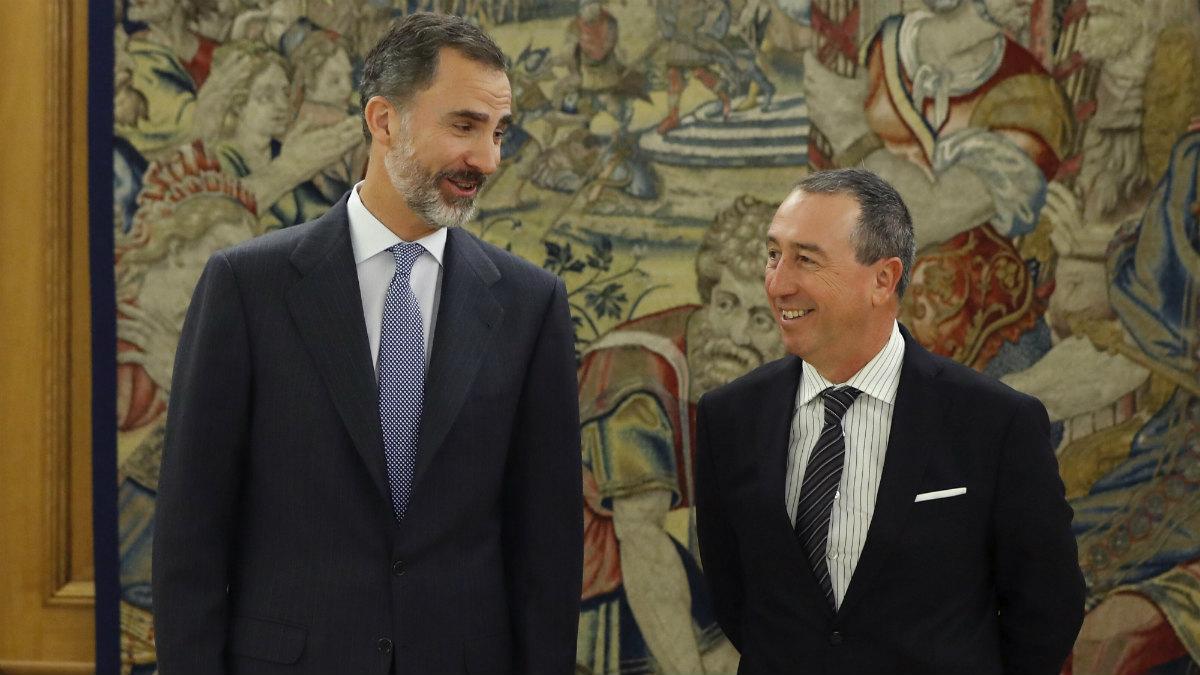 Felipe VI recibe al portavoz de Compromís Joan Baldoví en Zarzuela (EFE)