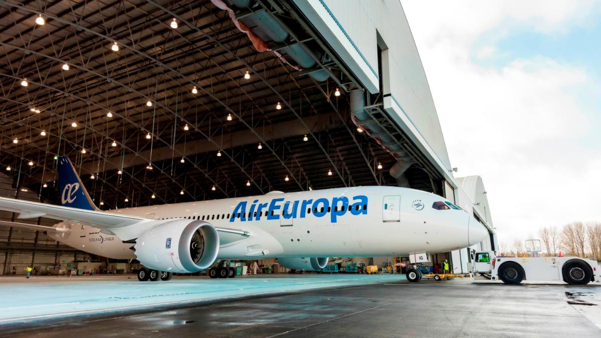 Uno de los aviones de AirEuropa (Foto. AirEuropa)
