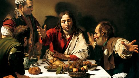 'La cena de Emaús' de Caravaggio.