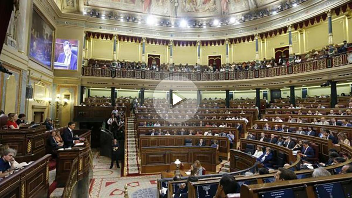 El Congreso de los Diputados en la segunda sesión del debate de investidura. (EFE)