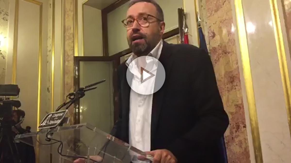 El portavoz de C'S en el Congreso, Juan Carlos Girauta.