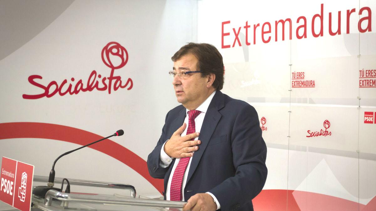 El secretario general del PSOE extremeño, Guillermo Fernández Vara (Foto: Efe)