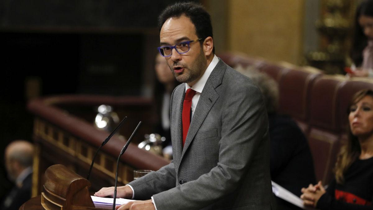 El portavoz del PSOE en el Congreso, Antonio Hernando. (Foto: EFE)