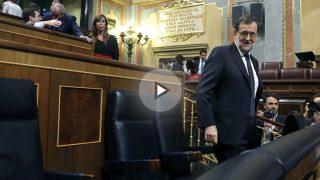 Mariano Rajoy en el Congreso de los Diputados (FOTO:EFE)