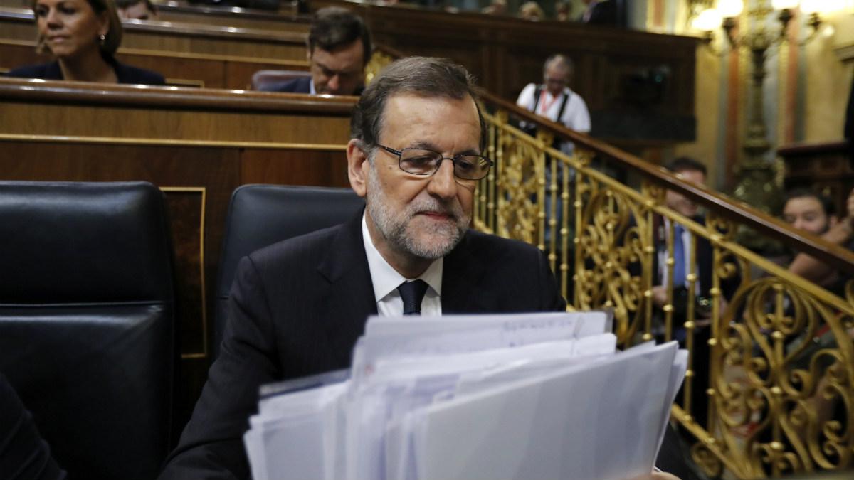 Mariano Rajoy en su debate de investidura. (EFE)