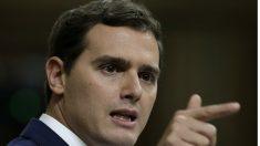 Albert Rivera durante su intervención en la investidura de Mariano Rajoy (EFE).
