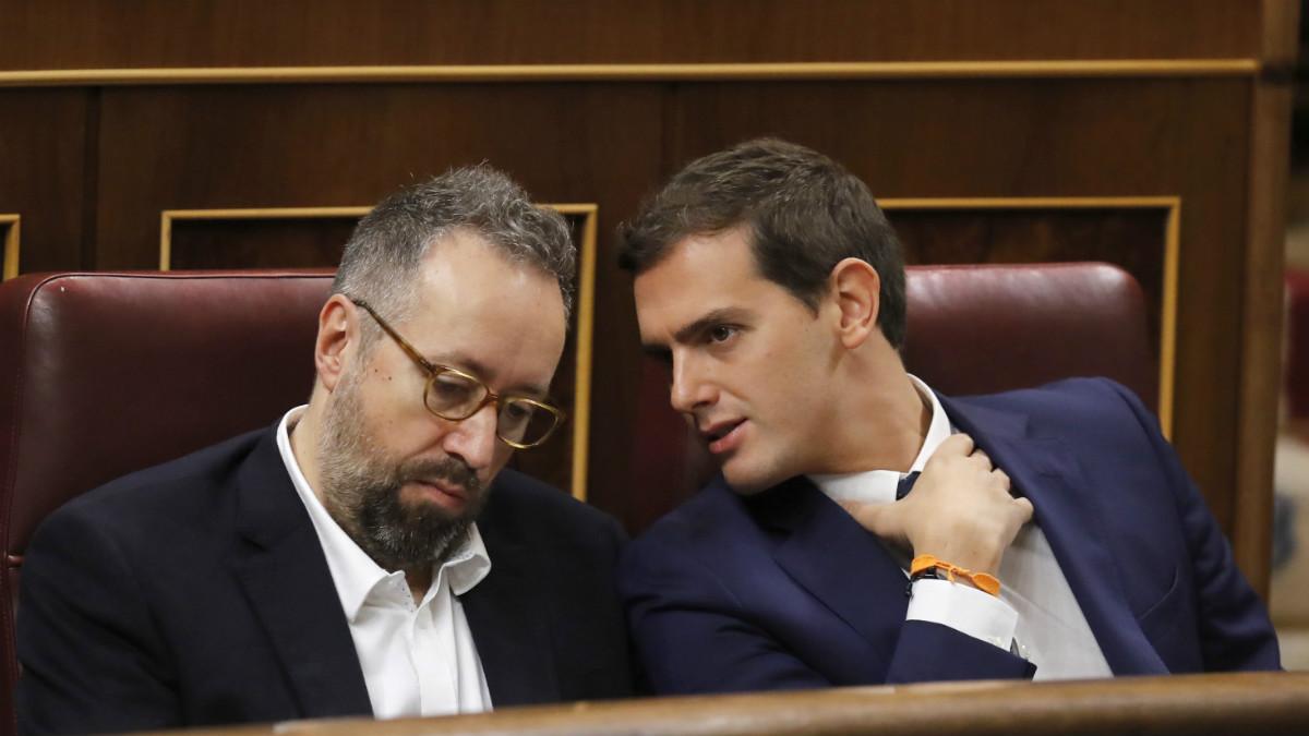 Albert Rivera y Juan Carlos Girauta.