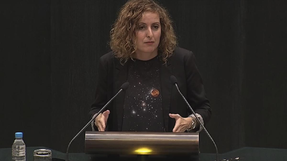 Carlota Merchán, este viernes en el Pleno del Ayuntamiento de Madrid. (Foto: YT)