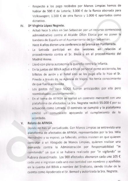 López Negrete mintió: Bernad afirma que Manos Limpias le pagó todos los gastos del 'caso Urdangarin'