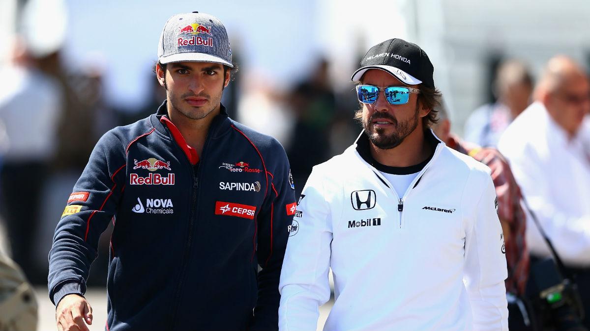Carlos Sainz defiende la maniobra de su amigo Alonso frente a Massa en el Gran Premio de Estados Unidos. (Getty)