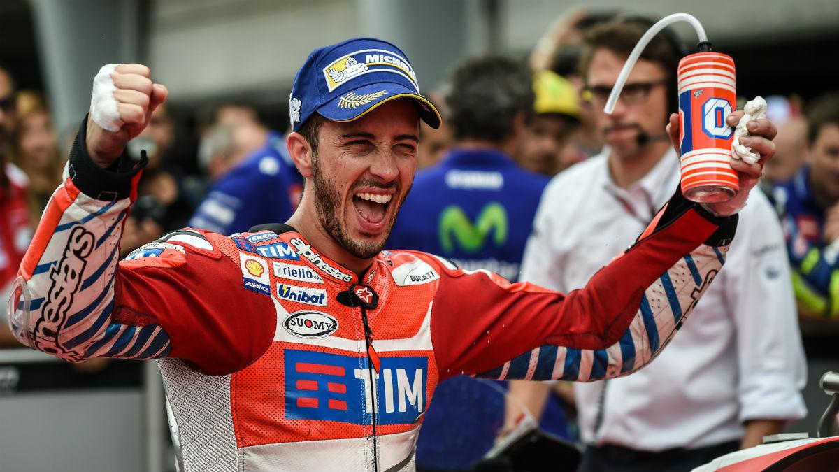 Andrea Dovizioso consiguió una pole sorprendente. (AFP)