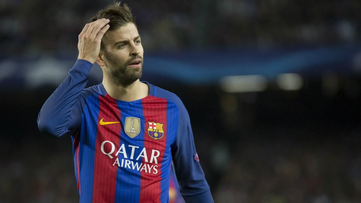 Piqué, en un partido con el Barcelona. (Foto: Getty)
